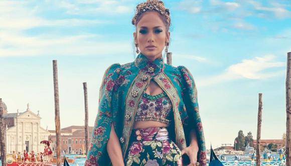 Jennifer Lopez paraliza Venecia con su look de Dolce & Gabbana. (Foto: @jlo).
