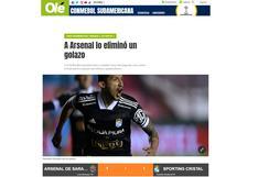 """""""A Arsenal lo eliminó un golazo"""": la reacción de la prensa argentina tras la clasificación de S. Cristal"""
