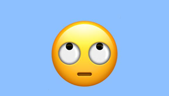 Conoce el verdadero significado del emoji de la carita mirando hacia arriba en WhatsApp. (Foto: Emojipedia)