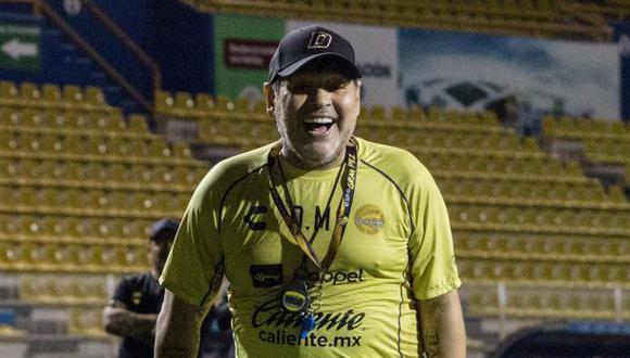 El homenaje de Dorados de Sinaloa a Diego Maradona. (Foto: Dorados de Sinaloa)