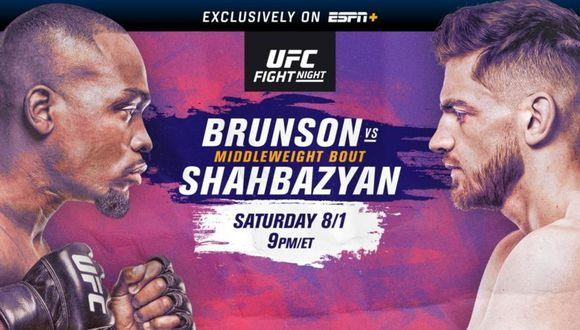 Brunson vs. Shahbazyan se enfrentan en el UFC Apex de Las Vegas.