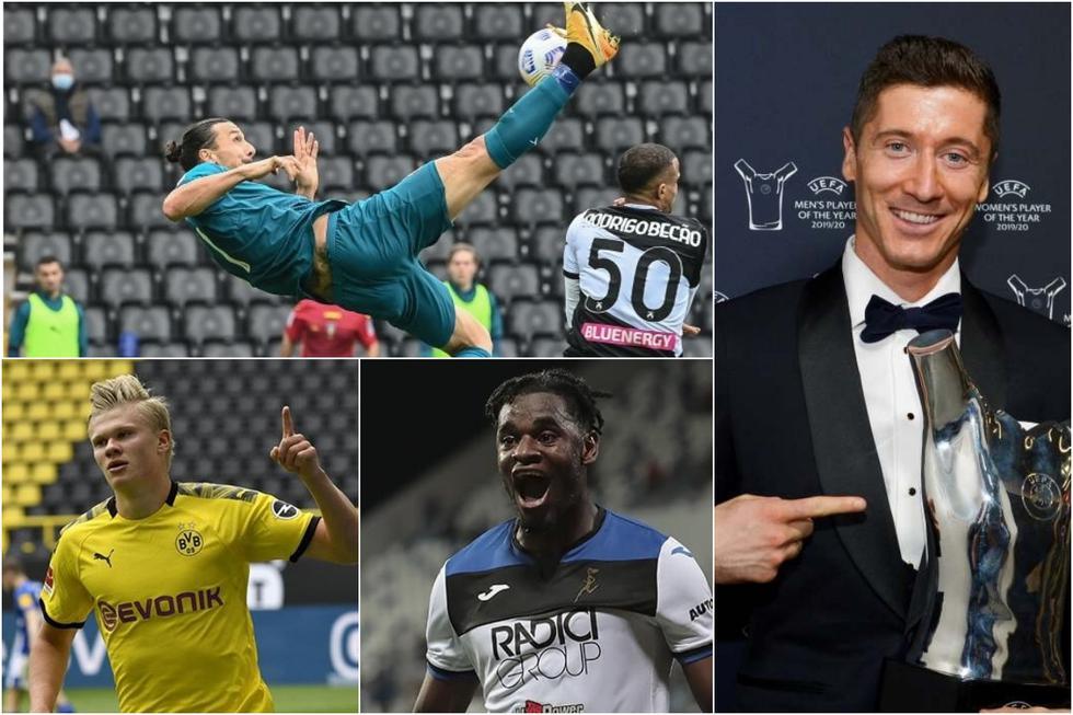 Así va el top 10 de los máximos goleadores del 2020. (Getty)