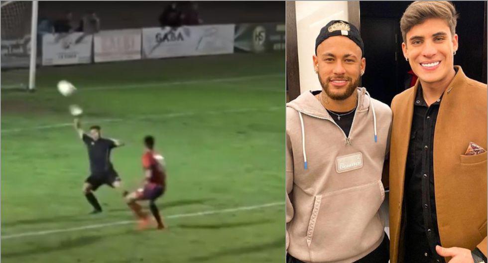 El mejor gol como futbolista de Tiago Ramos, el nuevo padrastro de Neymar. (Foto: Instagram)