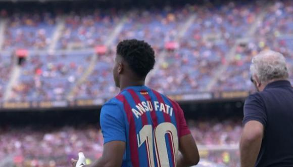 Ansu Fati volvió a jugar en el Barça tras casi once meses lesionado. (ESPN)