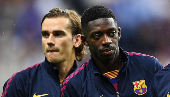 Dembélé y Griezmann fueron acusados de racistas por patrocinadores nipones del Barcelona. (Foto: EFE)
