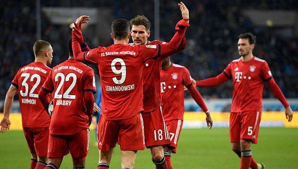 Bayern Munich venció 3-1 a Hoffenheim por la fecha 18 de la Bundesliga. (Getty Images)