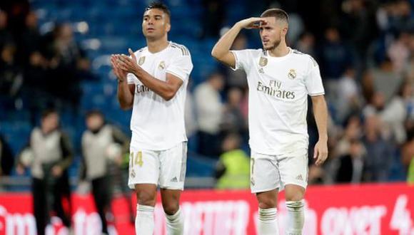 Casemiro y Hazard dieron positivos a coronavirus y no estarán ante Valencia. También preocupan a sus seleccionados. (Difusión)