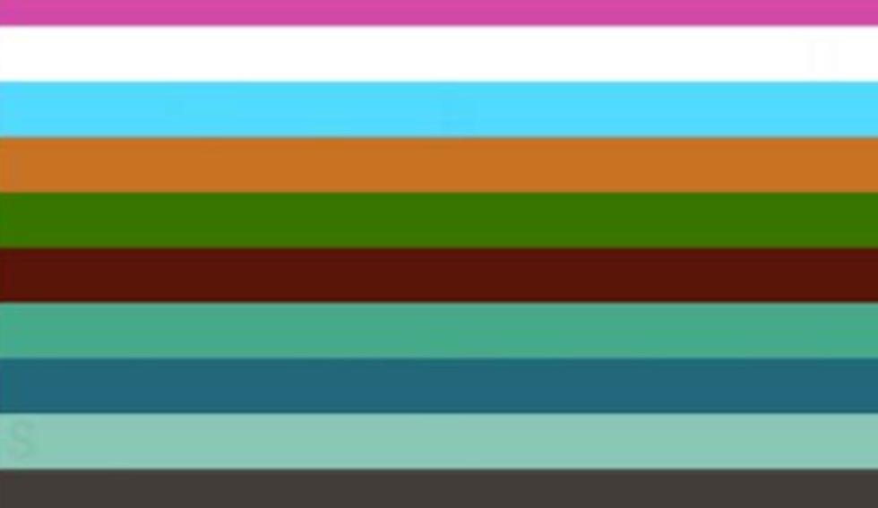 ¿Puedes hallar las letras escondidas entre las rayas de colores? (Foto: Facebook)