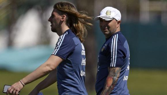Beccacece y Sampaoli separaron sus caminos tras el Mundial Rusia 2018. (Foto: AFP)
