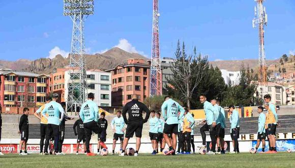 Los problemas en el entrenamiento de Argentina en Bolivia. (Foto: @Argentina)