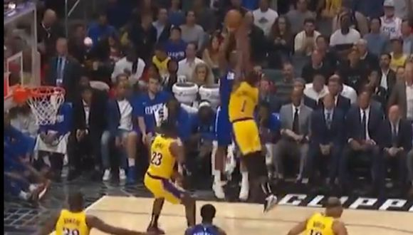 Kawhi Leonard lanzó soberbio tiro contra los Lakers de LeBron James. (Foto: Los Angeles Clippers)