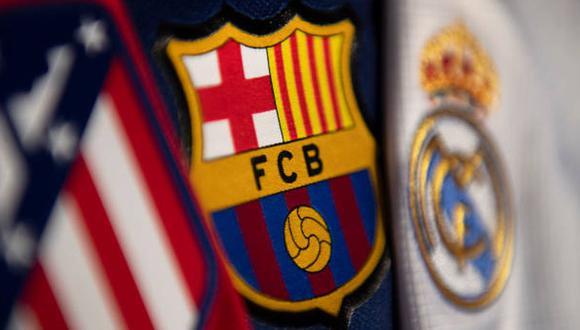 Atlético de Madrid, Barcelona y Real Madrid son los equipos con mejor puntaje en la tabla de posiciones de LaLiga. (Foto: Getty Images).