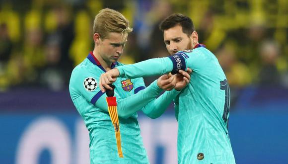 El volante neerlandés se refirió a la posible salida de Lionel Messi.