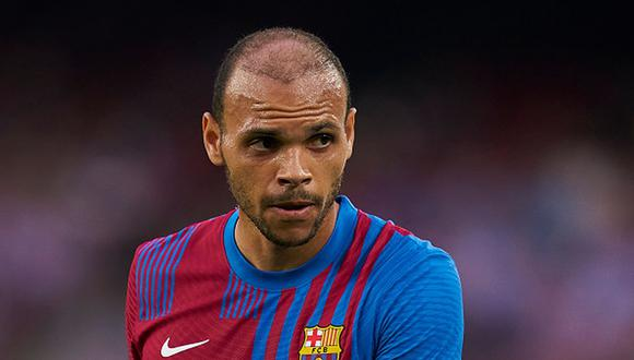 Martin Braithwaite llegó al Barcelona a inicios de 2020 desde el Leganés. (Getty)