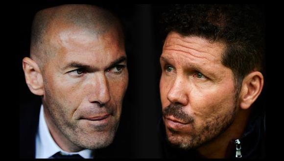 Real Madrid y Atlético de Madrid decidirán, en sus respectivos partidos, al campeón de la temporada. (Foto: AFP)