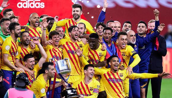 Barcelona se hizo con la Copa del Rey tras golear al Athletic Club. (Getty)