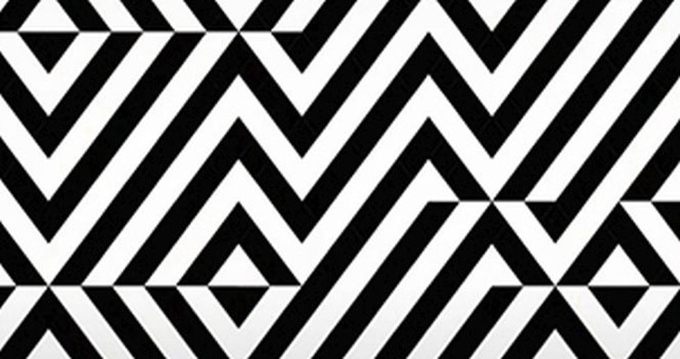 Ilusión óptica que te pide descubrir la palabra oculta entre las rayas blancas y negras. (Foto: Facebook)
