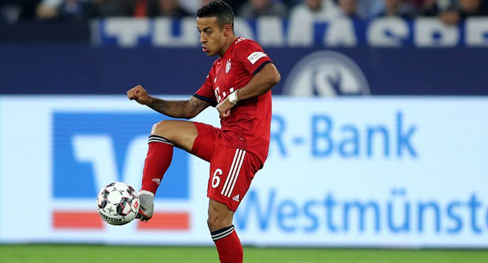 Jugador: Thiago Alcántara / Club: Bayern Munich (Getty)