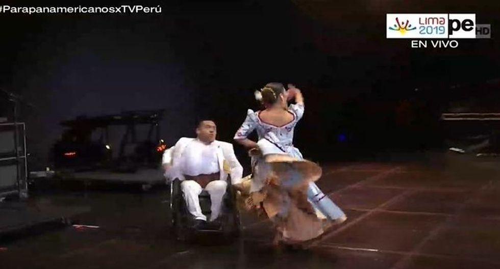 Clausura de los Parapanamericanos 2019 presentó marinera con bailarín en silla de ruedas. (Imagen: TVPerú)