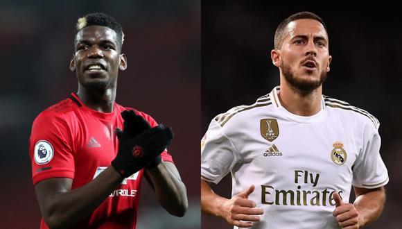 Pogba y Hazard podrían ser los grandes protagonistas del próximo mercado de fichajes. (Fotos: Agencias)