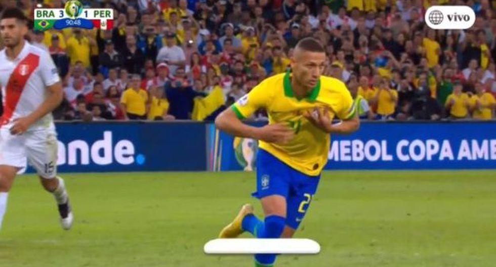 Richalson anotó el tercero para la Selección de Brasil. (Vídeo:América TV)
