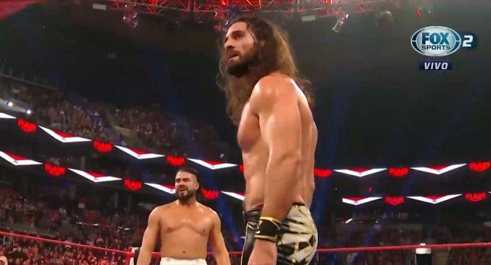 Seth Rollins y Andrade tuvieron que poner a un lado sus diferencias para hacerle frente a los enmascarados. (Foto: FOX Sports 2)