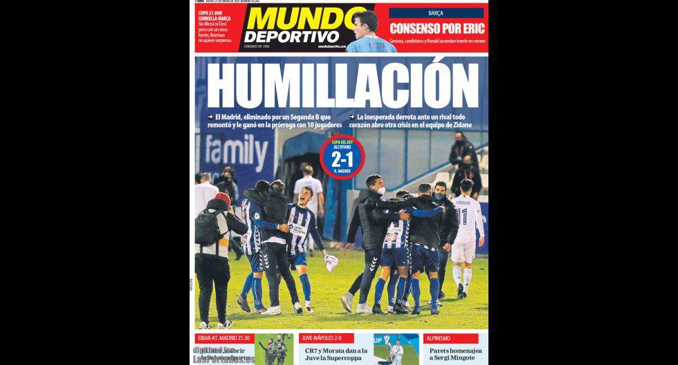"""Mundo Deportivo: """"Humillación""""."""