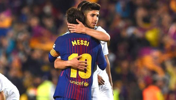 Marco Asensio revela que pudo ponerse la camiseta del eterno rival de Real Madrid. (Foto: AFP)