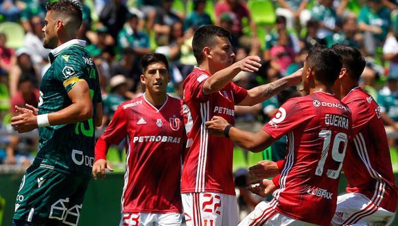 U. de Chile venció 2-1 a Santiago Wanderers en Valparaíso por jornada 4 del Campeonato Nacional de Chile. (Twitter)