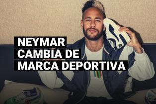 Neymar presentó a su nuevo patrocinador deportivo