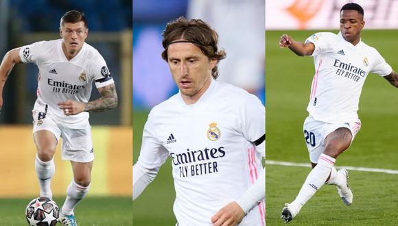 Kroos, Modric y Vinicius han acumulado una gran carga de partidos en las últimas semanas. (Fotos: Agencias)