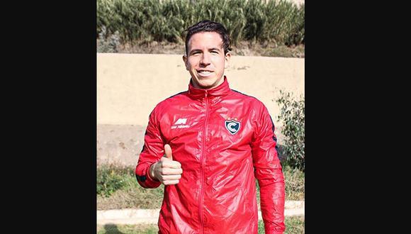 Adrián Ugarriza completó su primer entrenamiento con Cienciano. (Foto: Cienciano)