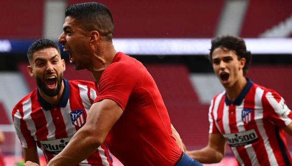 Luis Suárez cumple su primera temporada en el Atlético de Madrid. (Foto: AFP)