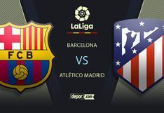 Ver Barcelona vs. Atlético de Madrid EN VIVO: consulta canales TV por LaLiga