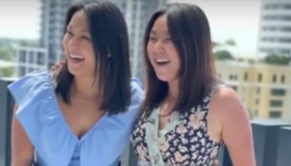 Increíble historia. Unas gemelas que fueron separadas al nacer se reencontraron después de 36 años. (Foto: Good Morning America / YouTube)