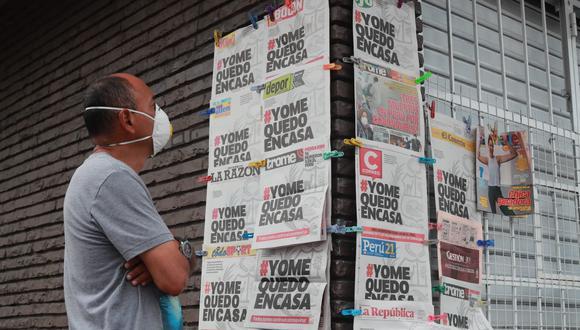 Entre los diarios que aparecieron con el hashtag #YoMeQuedoEnCasa en su portada, figuran los deportivos Depor, Líbero, El Bocón, así como El Comercio, Correo, Gestión, Perú21, Trome, entre otros. (Foto: GEC)