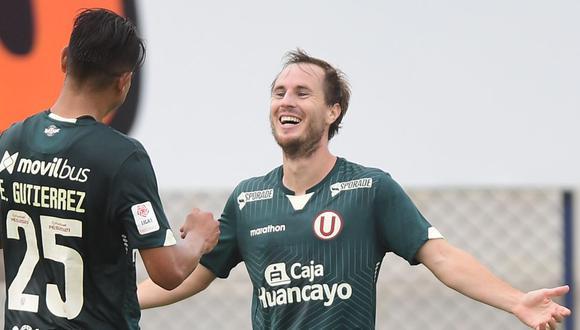 Hernán Novick anotó el único tanto con el que Universitario venció a la U. San Martín. (Foto: Universitario de Deportes)