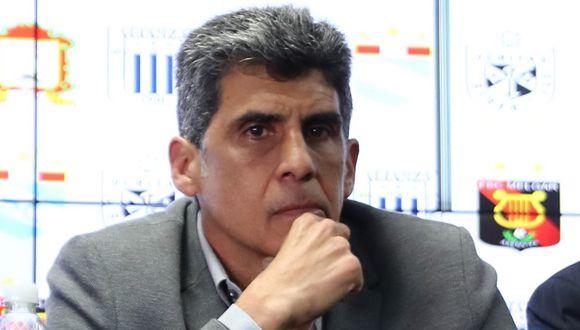Álvaro Barco, gerente deportivo de la Universidad San Martín, no tuvo autorización para participar en la reunión entre la Federación Peruana de Fútbol (FPF) y clubes. (Foto Giancarlo Ávila).