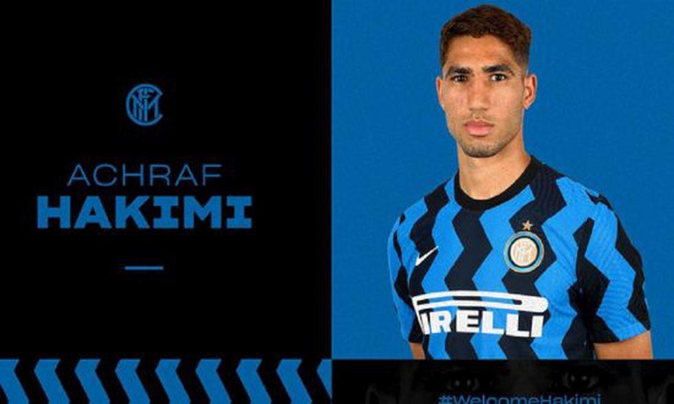 8. Achraf Hakimi at Inter Milan (2020/2021) for 41 million euros.  (Photo: Getty)