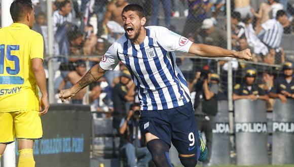 El grito de Gabriel Leyes tras anotar un gol clave a favor de Alianza Lima para apoderarse del título nacional. (Foto: GEC)