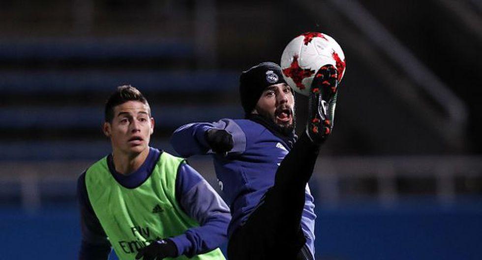 James Rodríguez e Isco, compañeros y rivales en el Real Madrid. (Foto: Getty)
