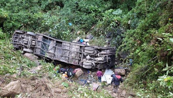 Así quedó el bus en el que viajaba Edwin Tumiri. (Foto: Olé)