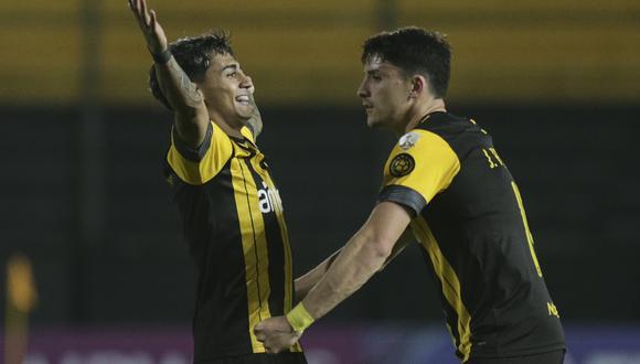 Facundo Torres marcó el segundo gol para Peñarol. (Foto: Conmebol).