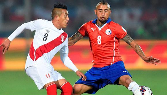 Perú y Chile se medirán en el Estadio Nacional por la fecha 11 de las Eliminatorias. (Foto: EFE)