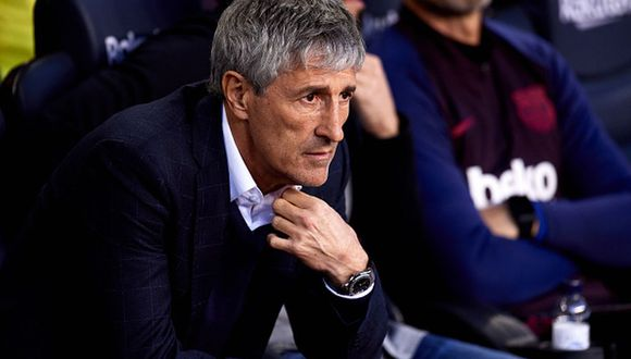 Quique Setién llegó al Barcelona en reemplazo del exDT 'azulgrana' Ernesto Valverder. (Foto: Getty Images)