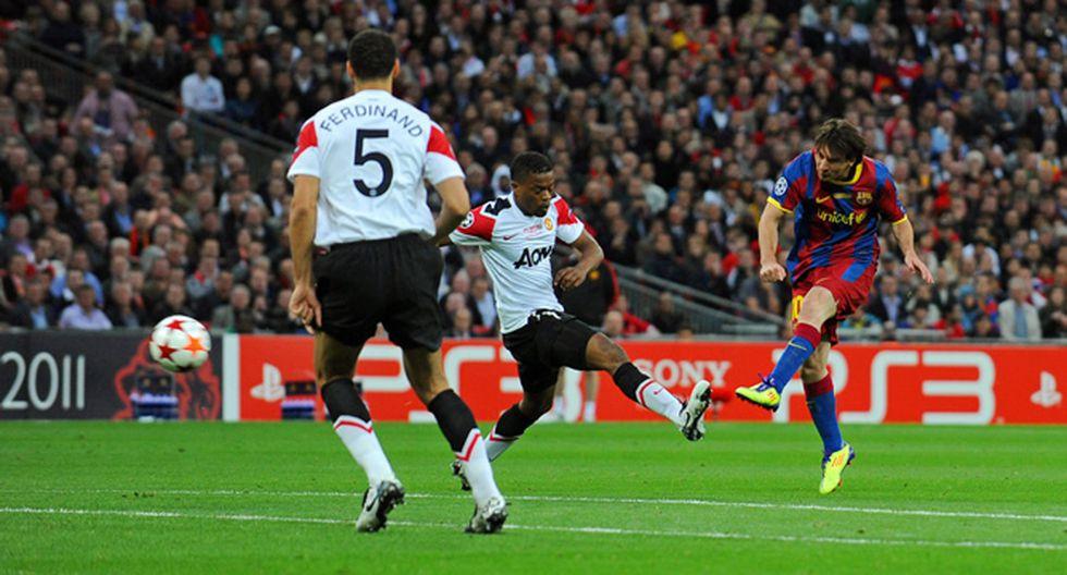 Messi anota en la final de Champions 2011 ante Manchester United. (Foto: Agencias)
