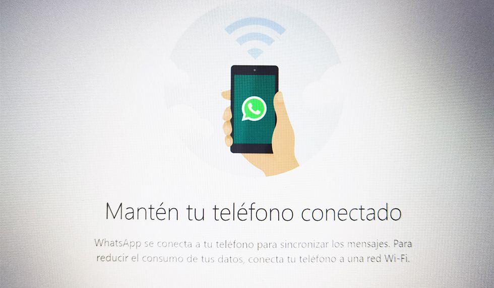 Recuerda que el único método para que funcione ello es que tengas tu celular cerca a la PC donde estás conectado. (Foto: WhatsApp)