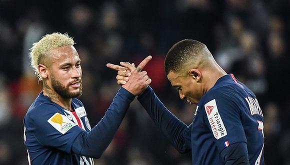Neymar es pretendido por Barcelona y Mbappé por Real Madrid. (Getty)