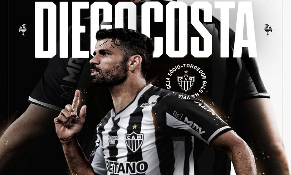 Diego Costa jugará en el Atlético Mineiro de Brasil (Foto: @Atletico)