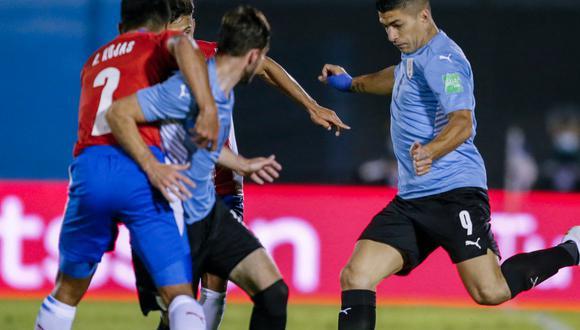 Uruguay empató 0-0 con Paraguay por Eliminatorias Qatar 2022 en Montevideo (Foto: AFP)